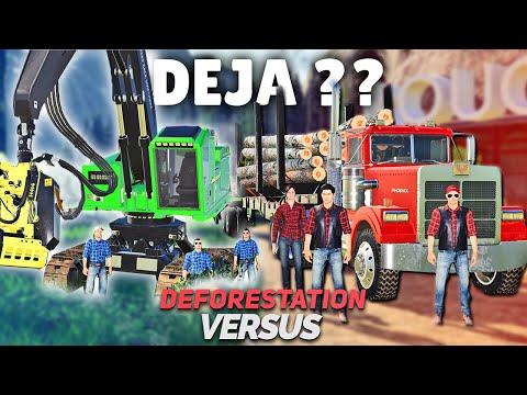 DEJA DES ABATTEUSES ? | Déforestation Versus #03 (Farming Simulator 19)