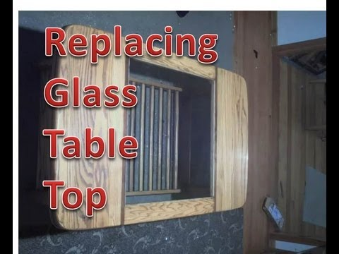 Fitting Replacement Glass Table Top Youtube