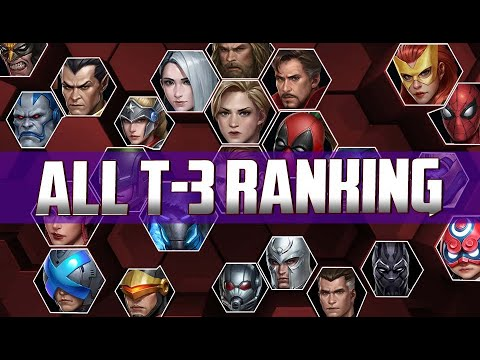 All T-3 Characters Ranking 2020 With All T-3 Animation - MARVEL Future Fight
