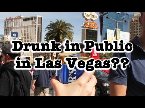Is it illegal to be drunk in public in Nevada?