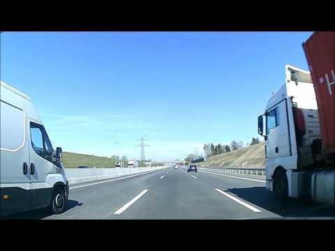 Video Reise mit dem Auto - video footage doku - Dashcam aus Germany - Autobahn A7 - Hamburg - Kiel
