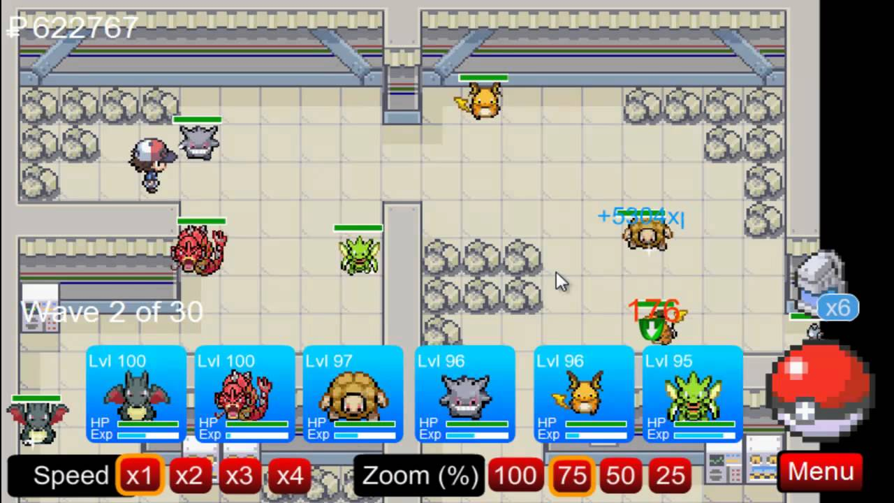 (PTD) Pokemon Tower Defence part 72 - Power Plant - YouTube