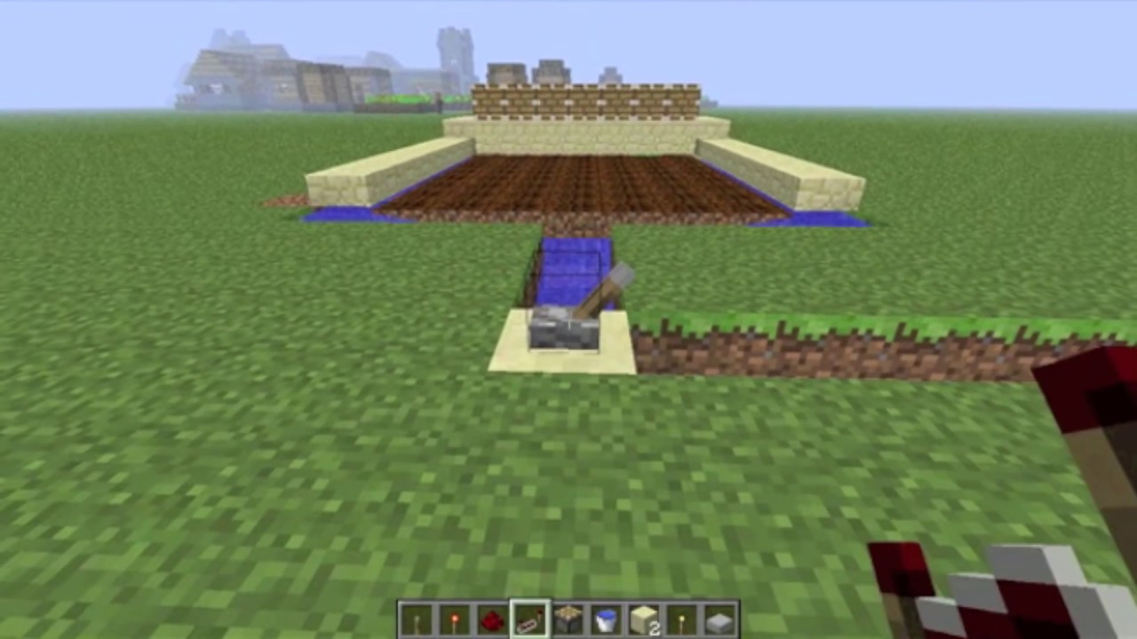 Minecraft Automatic Wheat Farm Tutorial Youtube