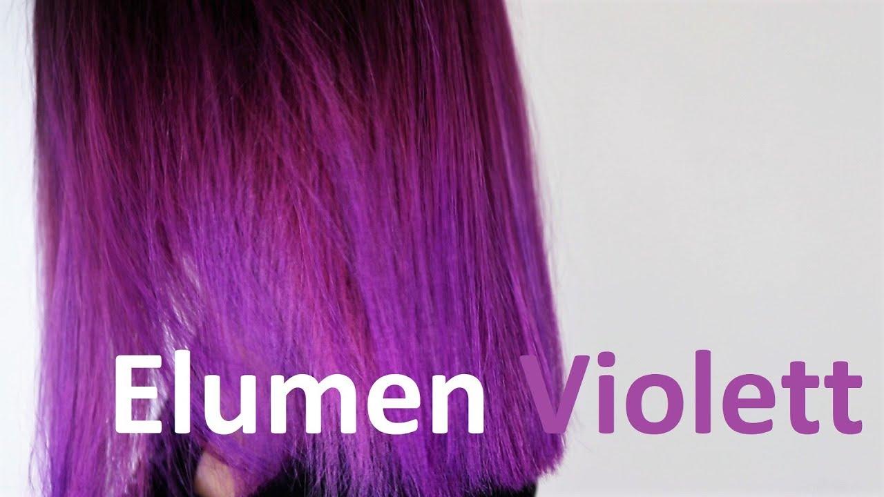 Elumen Haare Farben Violett Lila Haar Youtube