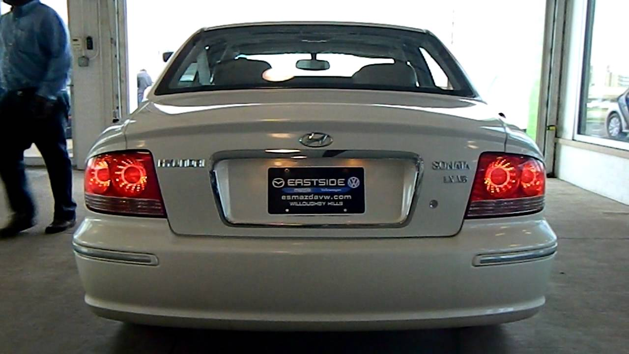 White Pearl 2003 Hyundai Sonata Lx V6 Eastside Mazda