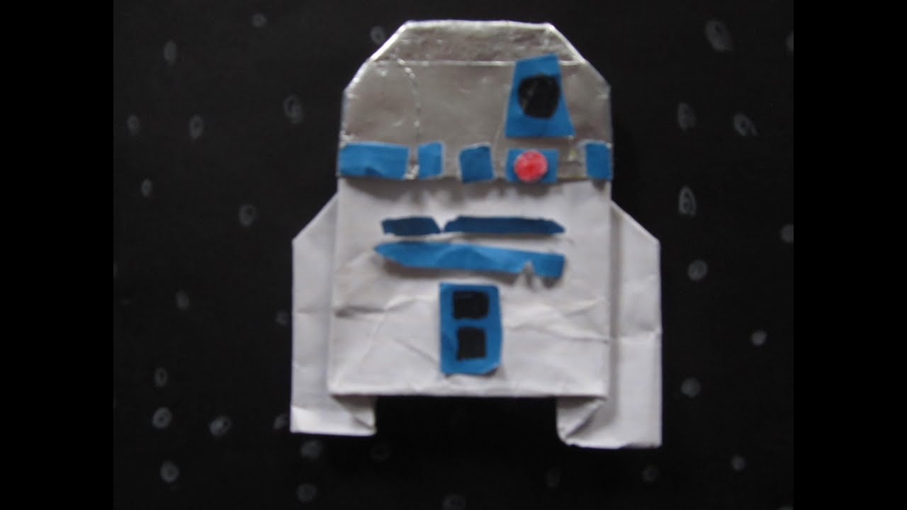 Origami R2-D2 Instructions - YouTube - photo#2