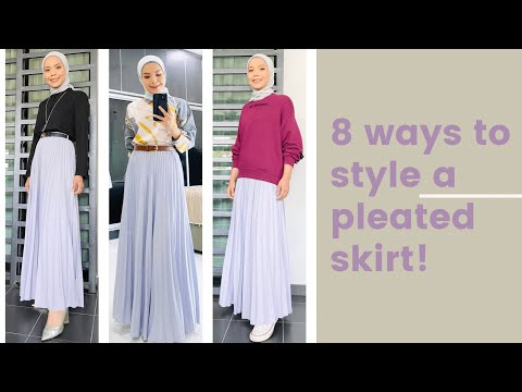 8 Ways To Style a Pleated Skirt | Lin Ariffin - YouTube