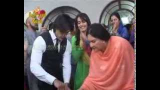On location of TV Serial 'Qubool Hai'  Serial completes one year