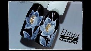❤ ЦВЕТЫ на ногтях ❤ Рисуем ПРОСТЫЕ цветы ❤ Дизайн ногтей гель лаком ❤ Nail Design Shellac ❤
