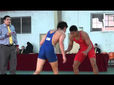 Freestyle Wrestling China - PIN in 74kg Match  00170