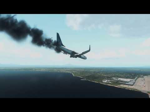 Garuda Indonesia 737-800 crashed at Bali ++ X-Plane 11
