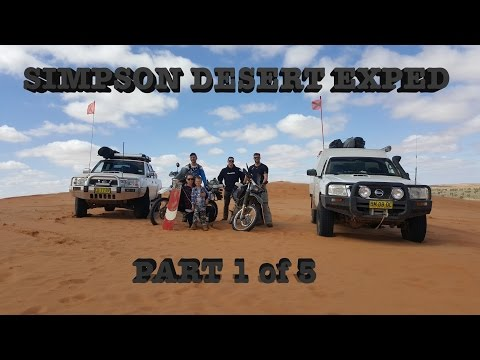 Simpson Desert Exped Ride on DR650's - Part 1 of 5
