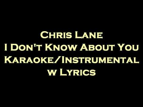 Chris Lane - I Don&39;t Know About You KaraokeInstrumental w
