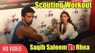 Scout Workout RACE | Saqib Saleem Vs Rhea Chakraborty | Fitness
