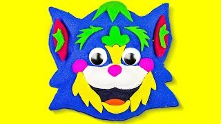 Play Doh Funny Cat Mask (English For Kids)