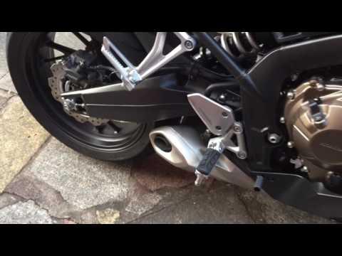 Honda CBR650F 2017 Matt Black Standard Exhaust Sound