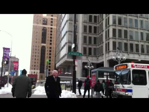 Walk from City Hall to the Comcast Building - Philadelphia, PA