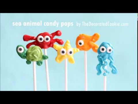 sea animals candy pops
