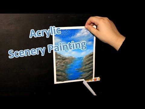 Acrylic Scenery Painting