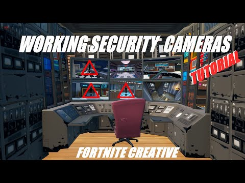 How To Get WORKING SECURITY CAMERAS In Fortnite Creative!