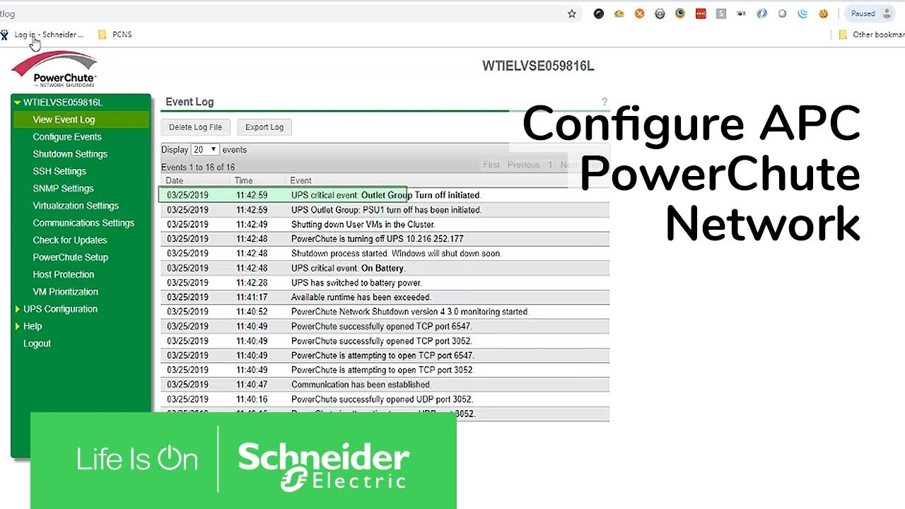 How To Configure APC PowerChute Network Shutdown for Nutanix AHV  Virtualization | Schneider Electric
