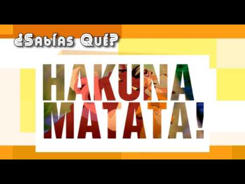 Sabias Que Significado De Hakuna Matata Youtube