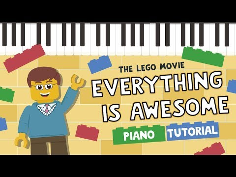 Everything is Awesome - Easy Piano Tutorial - Hoffman Academy