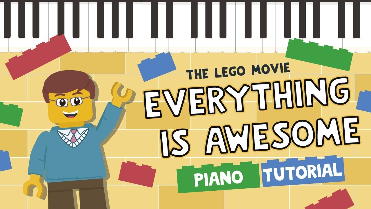 Everything Is Awesome Easy Piano Tutorial Hoffman Academy Youtube