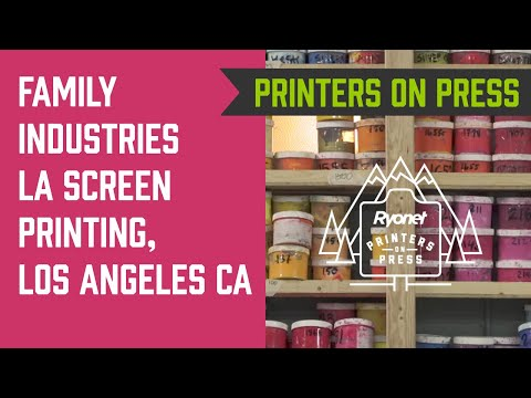 Printers On Press Ep. 3 - Family Industries LA Screen Printing