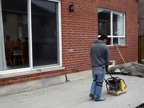 Interlocking Stone Patio And Driveway Installation   YouTube
