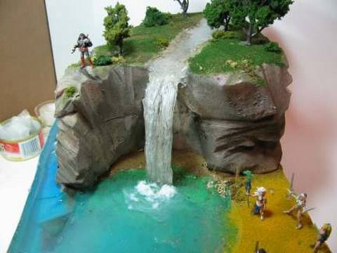 Image result for how to make 3D model of lake ecosystem made with plaster