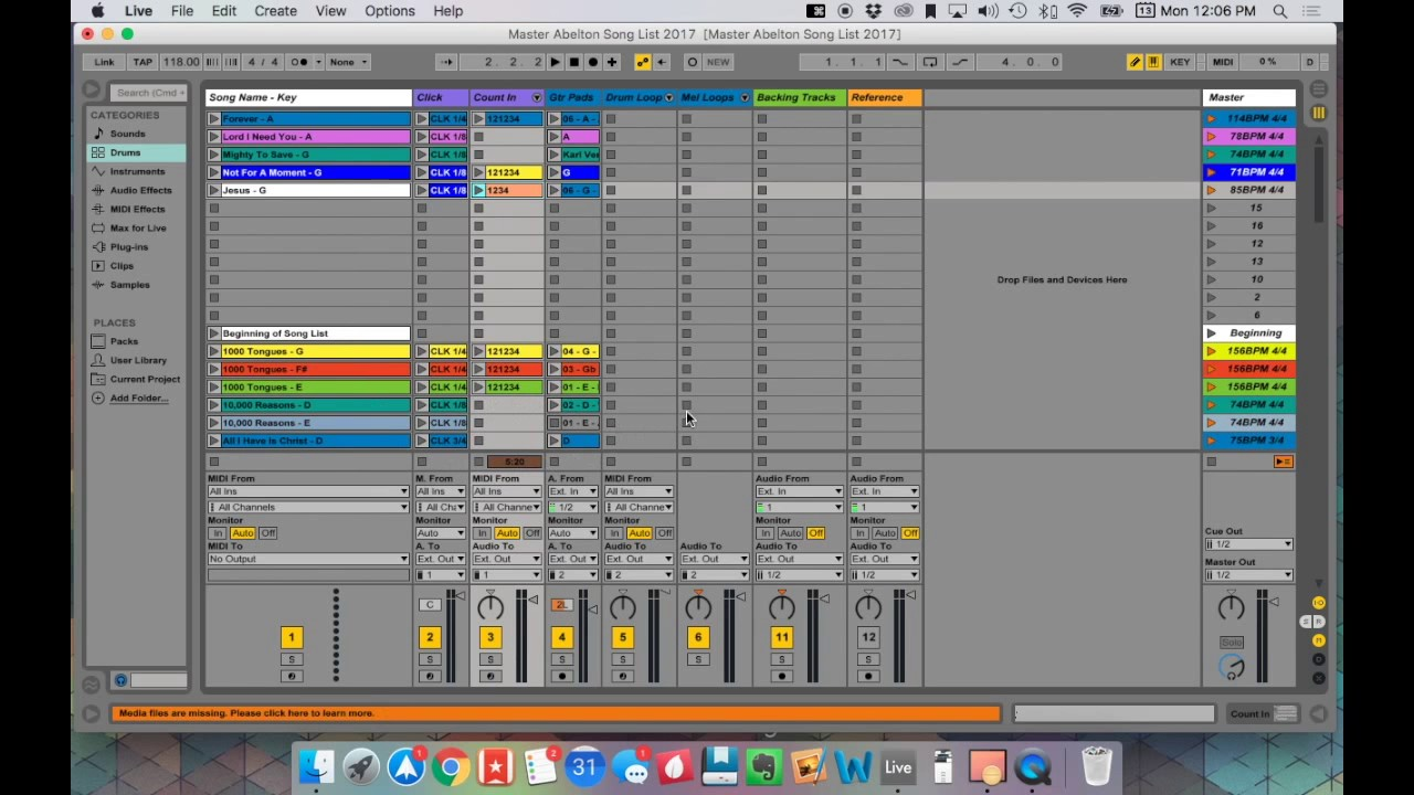Ableton Live Click and Pads Worship Template - Tutorial