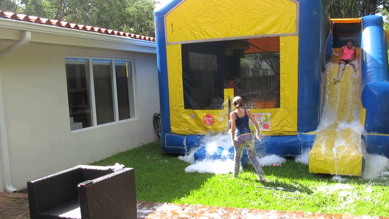 how to clean bounce house before using it youtube