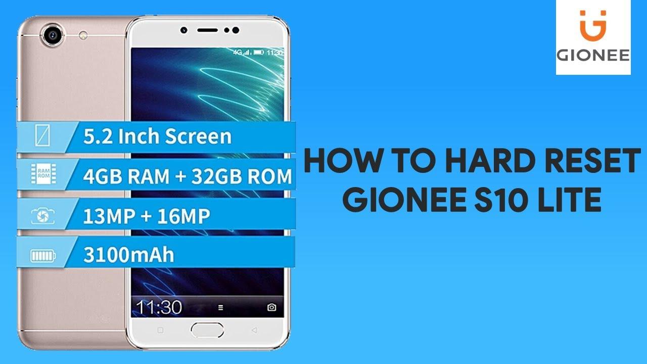How To Hard Reset Gionee S10 Lite romshillzz