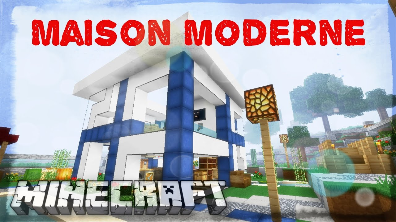 Modern house minecraft youtube for Minecraft maison moderne plan