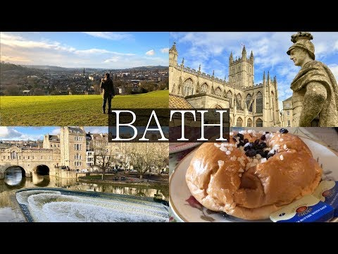 2 Days in BATH, UK VLOG | Roman Baths, Thermae Bath Spa, Hik