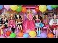 Lagu Barbie & Rapunzel&39;s Birthday Party with Friends! Pesta ulang tahun Barbie Festa de aniversário