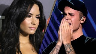 Demi Lovato REJECTS a Kiss from Justin Bieber Under the Mistletoe!