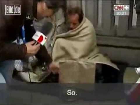 Spanischer Reporter demütigt Hamburger Obdachlosen (Bild Zeitung)