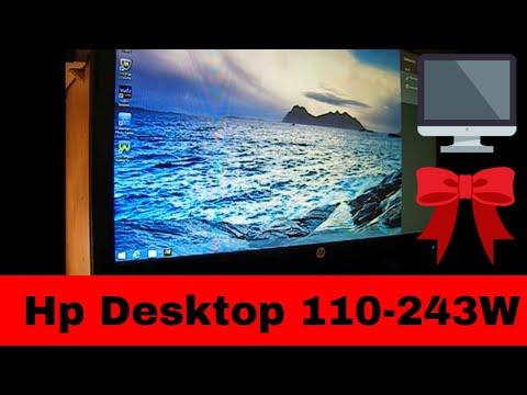 Unboxing New HP 110-243W Desktop Pc W/ Windows 8.1