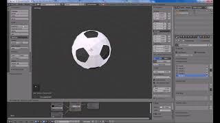 Урок Блендер создание футбольных мячей Low Poly - High Poly