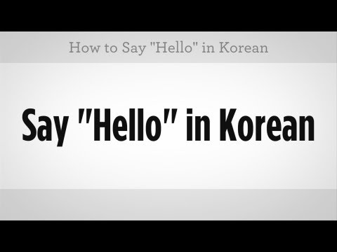"How to Say ""Hello"" 