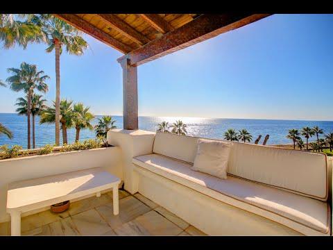 Alcazaba Beach, Estepona, front line penthouse for sale with gorgeous views