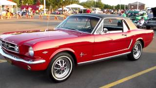 '65 Red Ford Mustang at Harper Charity Car Cruise