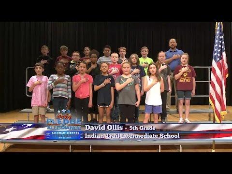 Daily Pledge of Allegiance: David Ollis's 5th-Grade class - Indian Trail Intermediate School