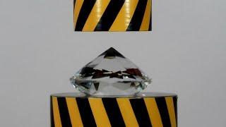 HYDRAULIC PRESS AGAINST HUGE DIAMOND