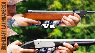 Rifle de Aire vs Adaptador Calibre 22