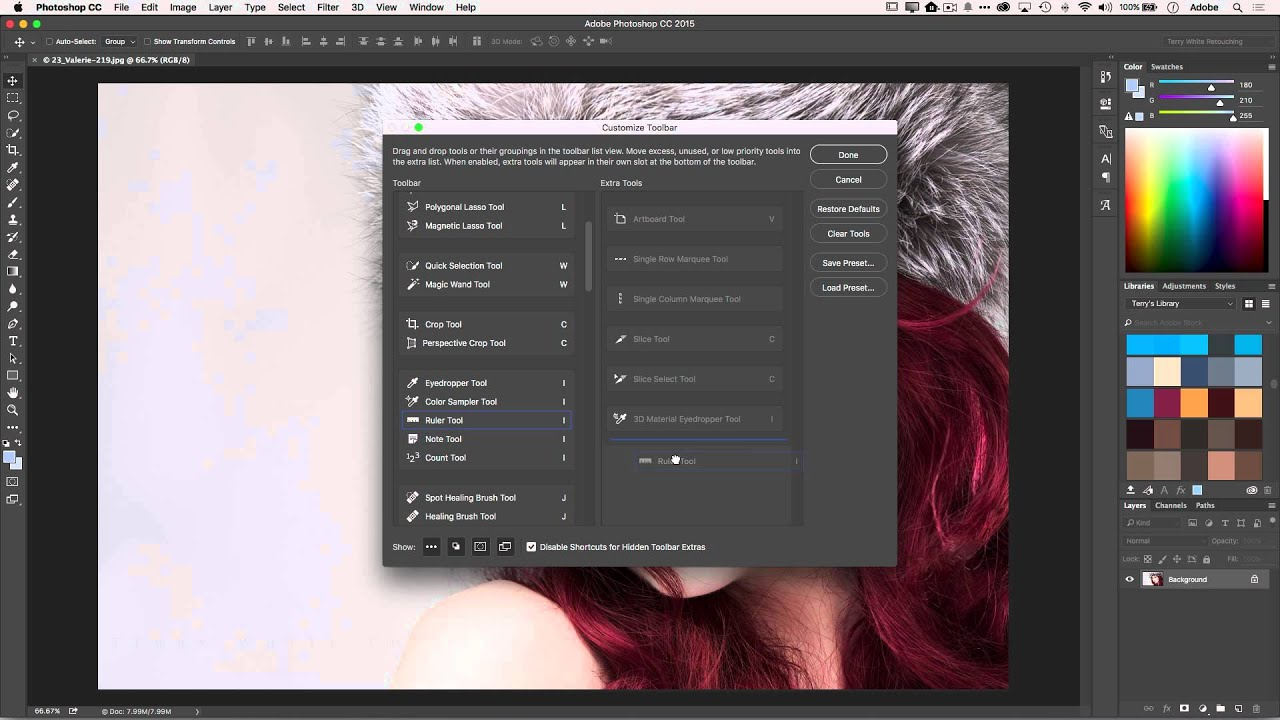 how to customize the tool panel in adobe photoshop cc youtube rh youtube com Photoshop Add Guide Guides Photoshop Crop Tool