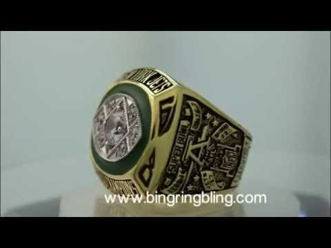 1968 New York Jets Super Bowl Champions Ring.