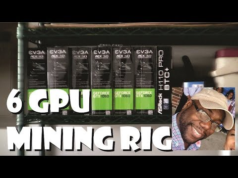 6 GPU Mining Rig Build Open Air Frame